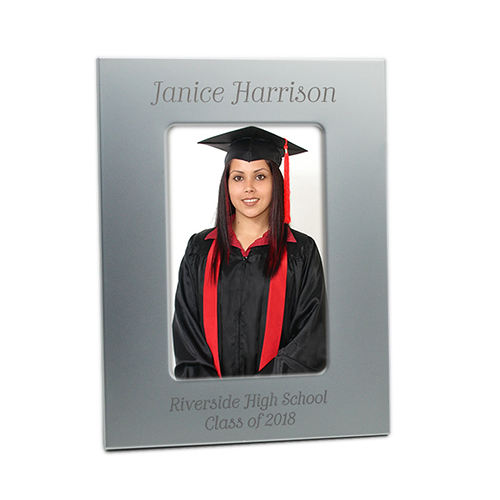 Personalized 1 Line Top/2 Line Bottom Picture Frame - Silver 5 x 7