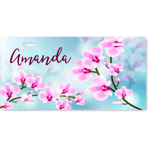 Custom Orchid License Plate