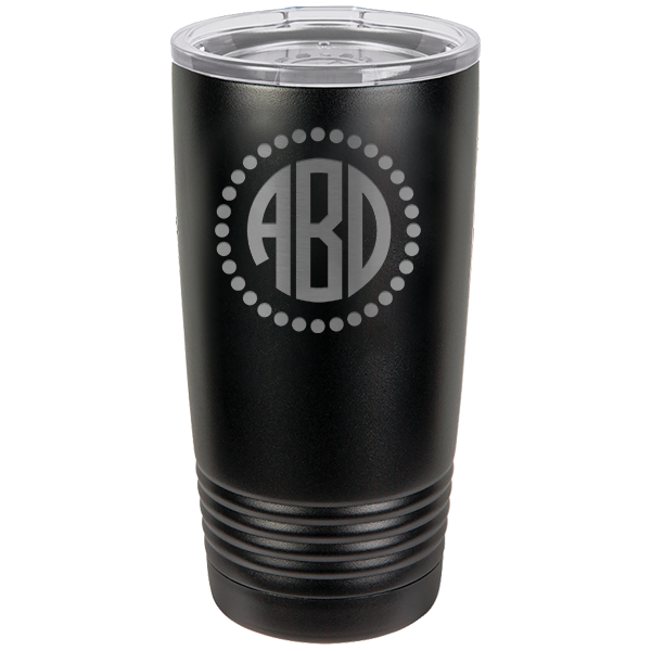 Custom Tumbler Polka Dot Monogram