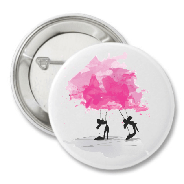 Pretty in Pink Fashion Button by The AG Studio