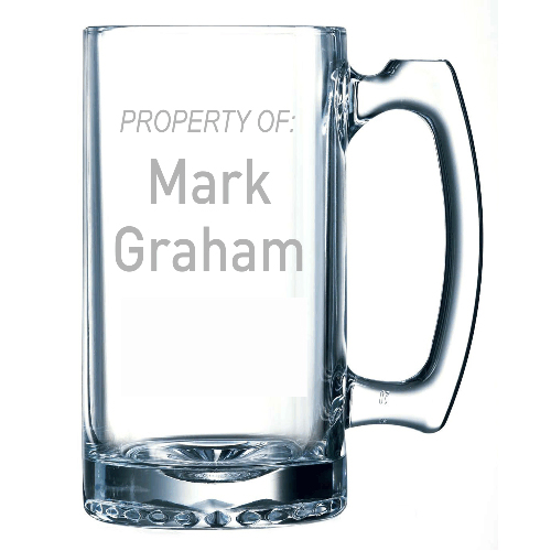 Property of Custom Name Beer Mug