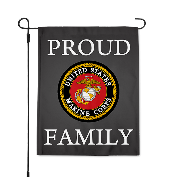 Proud Marine Family Garden Flag