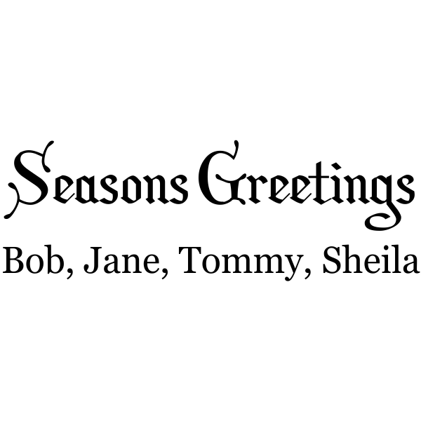 Custom Season Greetings Family Stamp