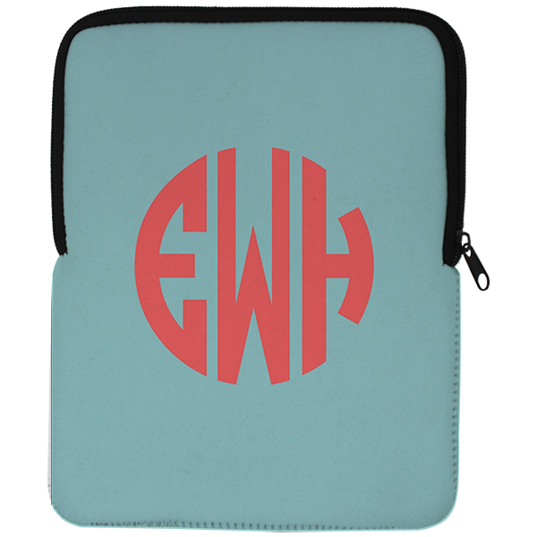 Simple Monogram iPad Air Sleeve