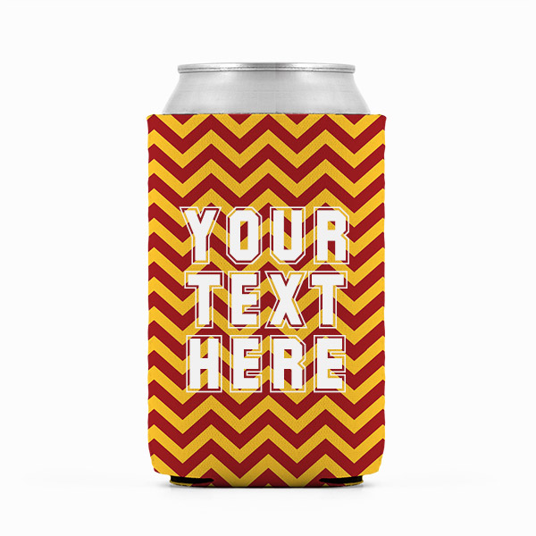 Southern California Inspired Red and Gold Collegiate Can Koozie