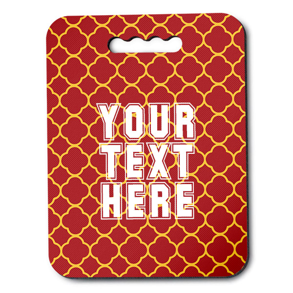 Southern California Inspired Red and Gold Collegiate Stadium Cushion