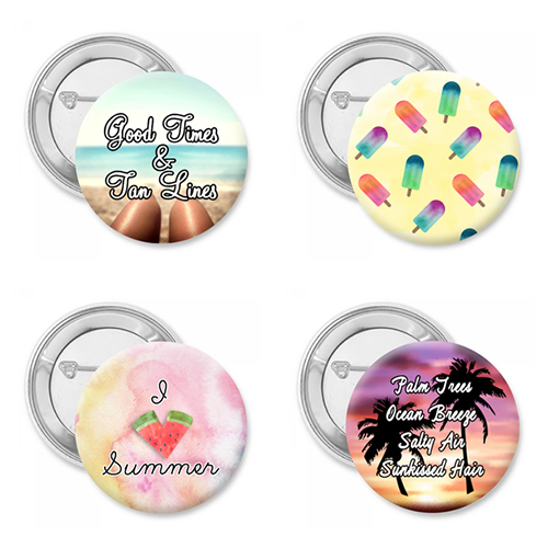 Summer4Ever Four Pack Button Set