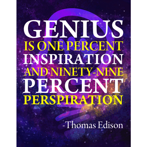 Thomas Edison Genius Poster Poster Sign