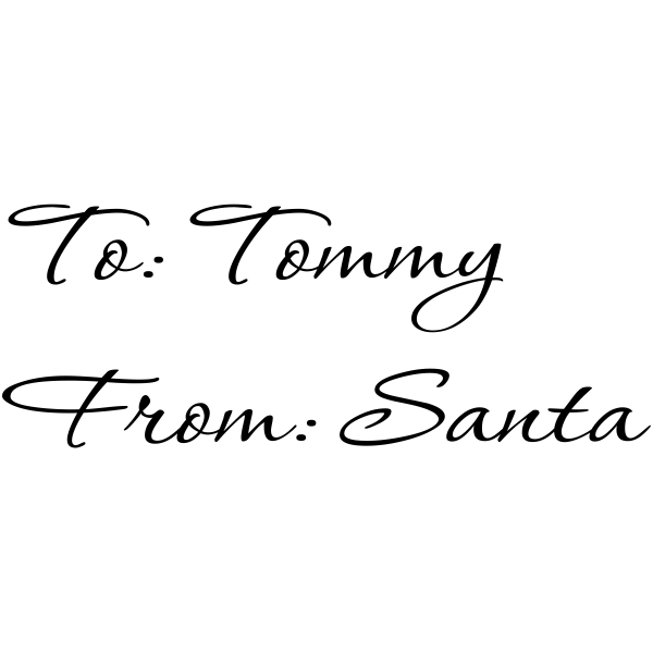 To Child From Santa Rubber Stamp