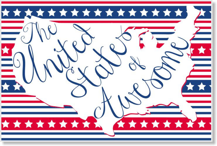 United States of Awesome Patriotic Sign