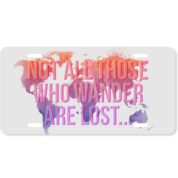 Wanderlust Ombre Gradient License Plate