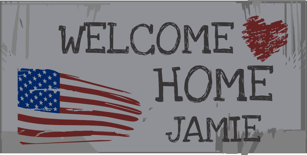 Welcome Home Custom Americana Banner | 2' x 4'