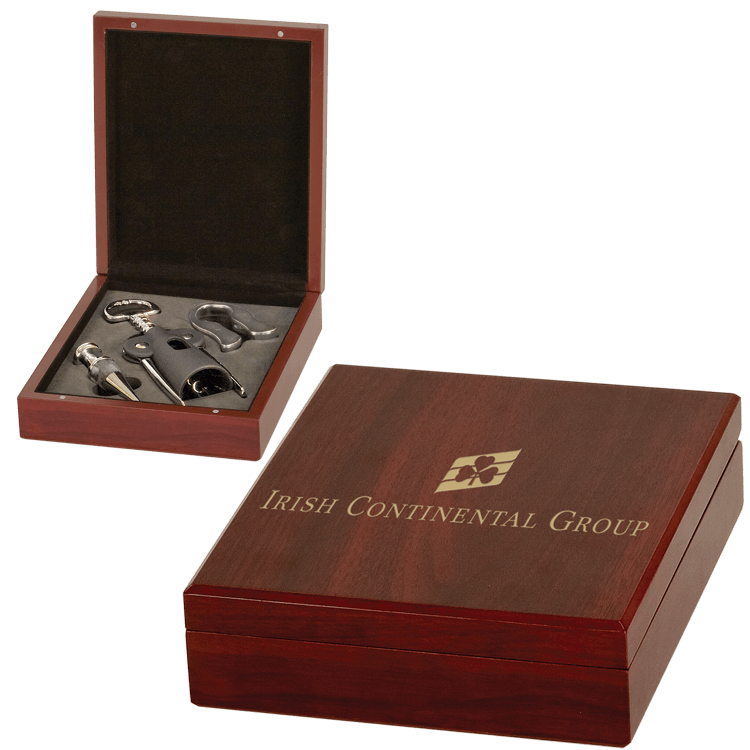 Wine Accessories Gift Set in Custom Engraved Box