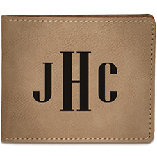 Monogram Leatherette Bi-Fold Wallet