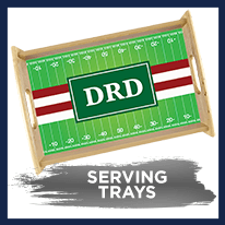 Football Stripes Serving Tray