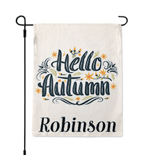 Personalized Hello Autumn Garden Flag