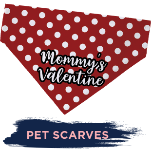 Mommy's Valentine Pet Scarf