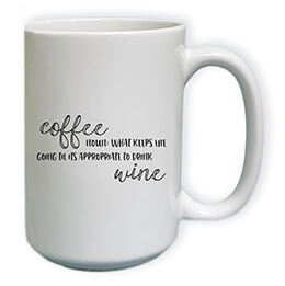 coffee before wine mug