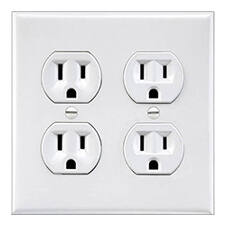 double outlet prank decal