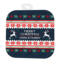 personalized christmas pot holder