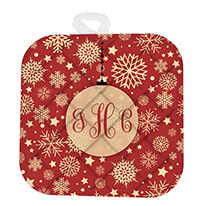 Christmas pot holder with monogram
