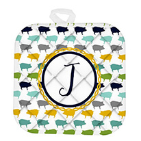 Pigs Monogram Pot Holder